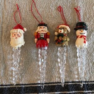 Other - 4 Christmas icicle ornaments